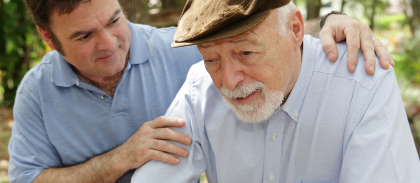 Senior Man & Worried Son